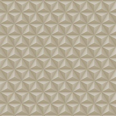 Papel De Parede Diplomata Geometrico 3D Bege 3130