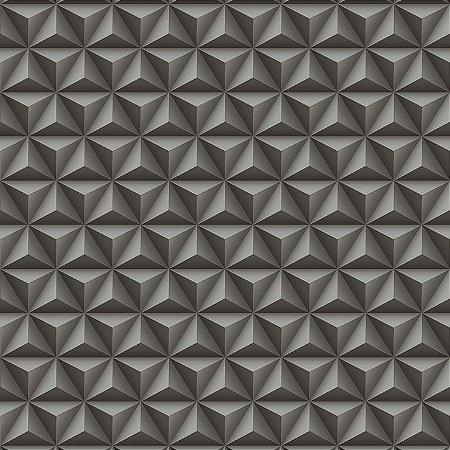 Papel De Parede Diplomata Geometrico 3D Preto 3123