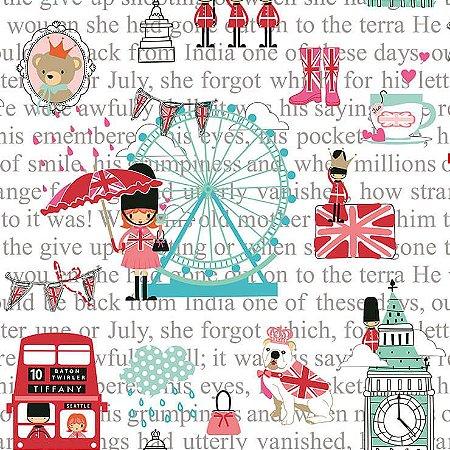 Papel De Parede Renascer Pink London 6226