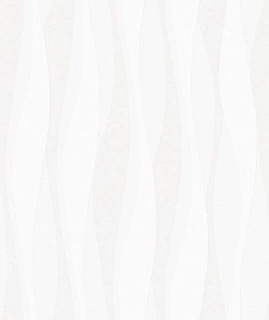 Papel De Parede Relevos 3D Branco 3402