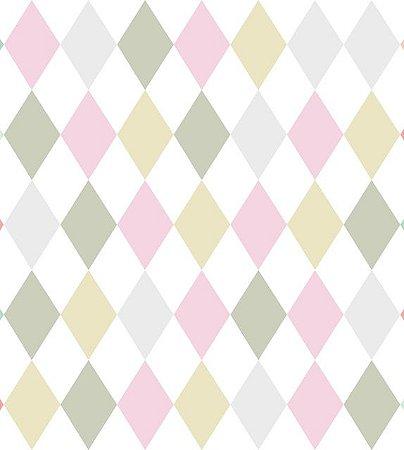 Papel De Parede Renascer Geometrico Colorido 6239