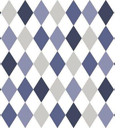 Papel De Parede Renascer Geometrico Degradê  Azul 6246