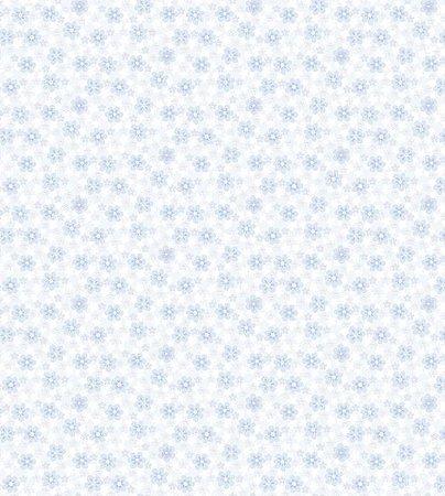 Papel De Parede Renascer Flor Azul 6251