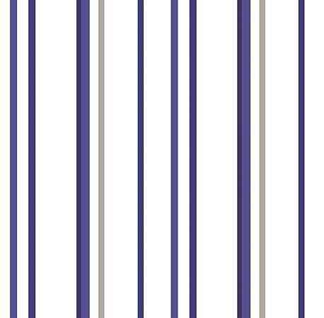 Papel De Parede Renascer Listra Azul 6245