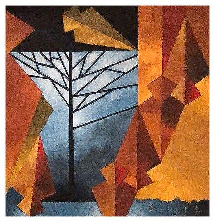 Quadro Pintura Artística 131 - Álvaro Borges filho acrílica sobre tela 70 X 70 Pinhões s/ moldura