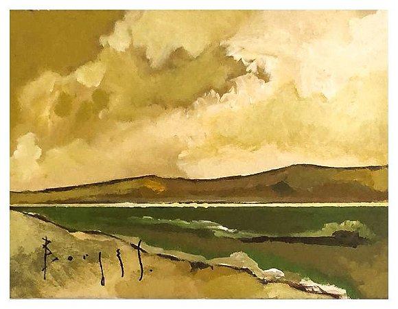 Quadro Pintura Artística 58 - Álvaro Borges filho acrílica sobre tela 18 X 24 Marinha - s/ moldura