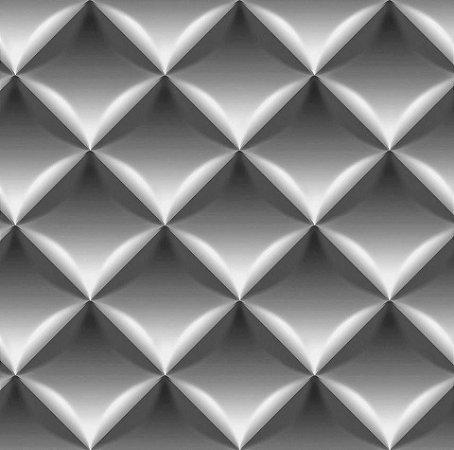 Papel De Parede Dimensões 3D Cinza 0008