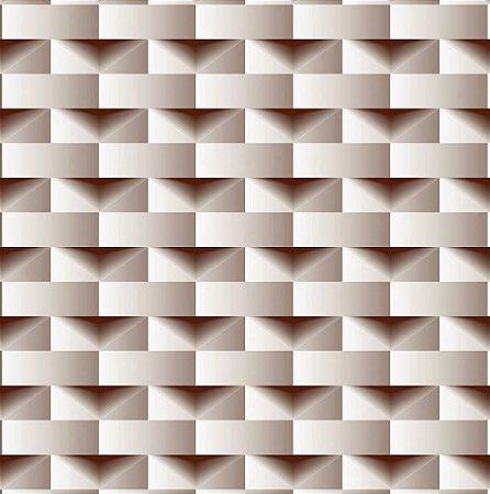 Papel De Parede Dimensões Geometrico Bege 0011