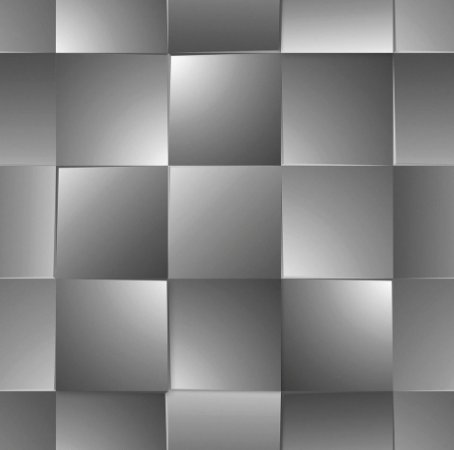 Papel De Parede Dimensões Quadriculado Cinza 0014