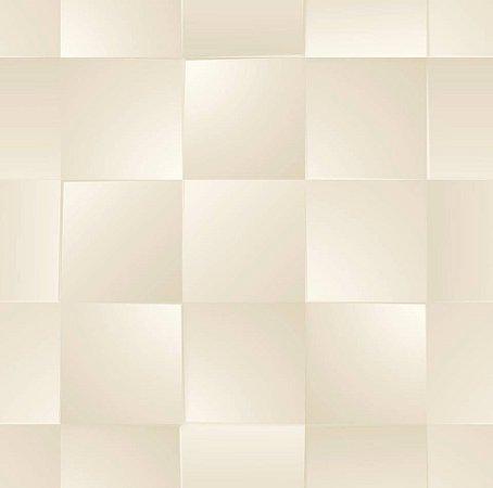 Papel De Parede Dimensões Quadriculado Perolado 4715