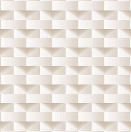 Papel De Parede Dimensões Geometrico Perolado 0021
