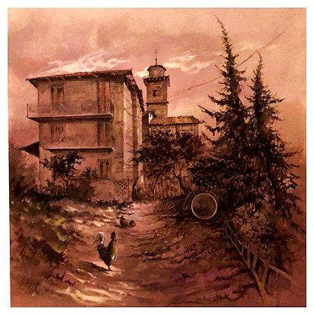 Quadro Pintura Artística 212 - Gianni Boerio Óleo sobre tela 59 X 59 Outono s/ moldura