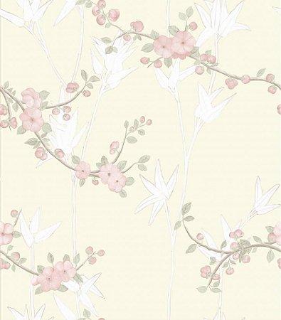 Papel De Parede Diplomata Floral rosa claro 1122-02