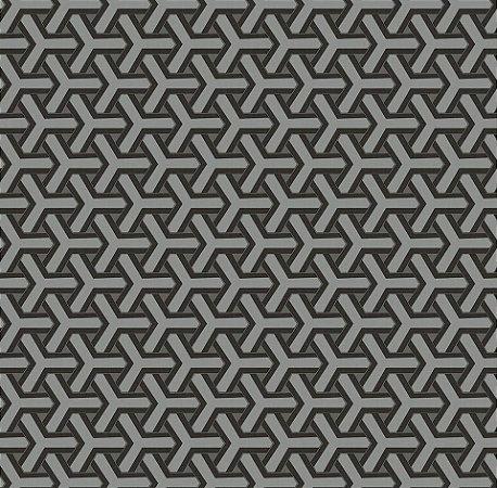 Papel De Parede Diplomata Geometrico Grafite 1122-09