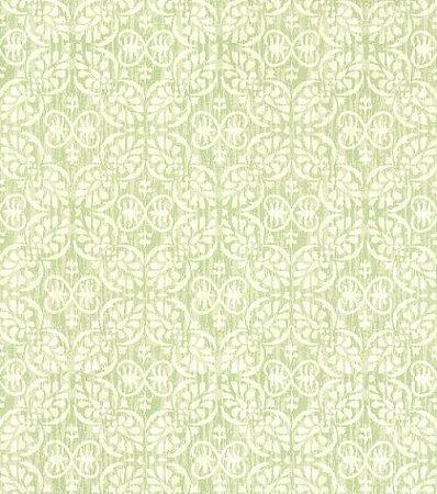 Papel De Parede Classique Arabesco Verde 2830