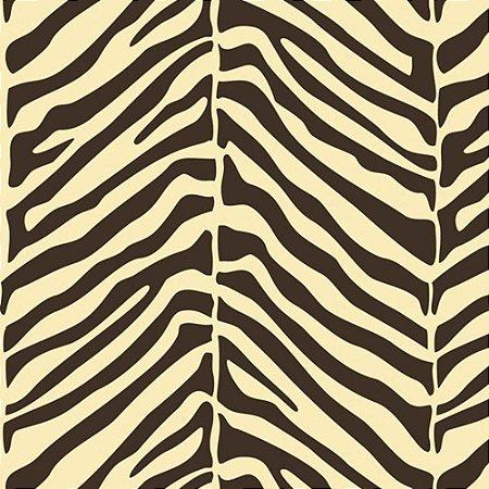 Papel De Parede Galia Vinil 42-2 Zebra Bege