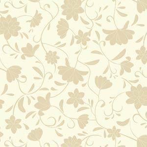 Papel De Parede Galia Vinil 46-2 Floral Bege Creme