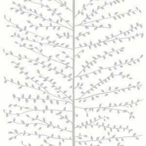 Papel De Parede Galia Vinil 48-2 Arvore Galhos Branco Cinza