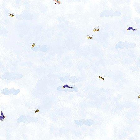 Papel de Parede Nuvens com Abelinhas cuentos 7805-1