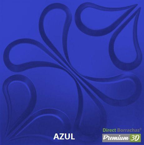 KIT C/22 PLACAS REVESTIMENTO 3D  ARABESCO AZUL  30X30cm P3D01