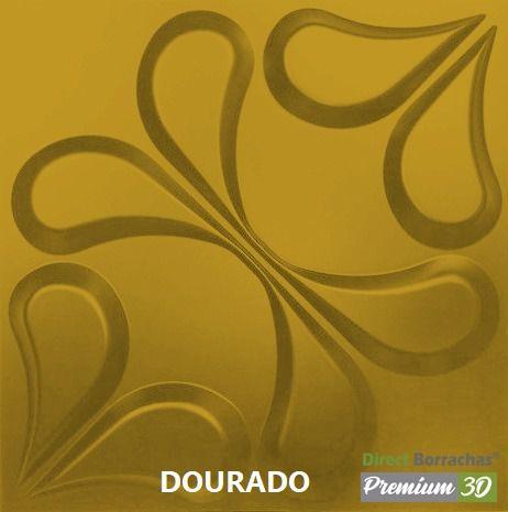KIT C/22 PLACAS REVESTIMENTO 3D  ARABESCO DOURADO  30X30cm P3D01