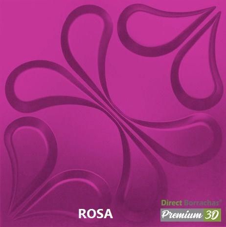 KIT C/22 PLACAS REVESTIMENTO 3D  ARABESCO ROSA  30X30cm P3D01