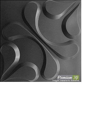 KIT C/22 PLACAS REVESTIMENTO 3D  ARABESCO CINZA ESCURO  30X30cm P3D01