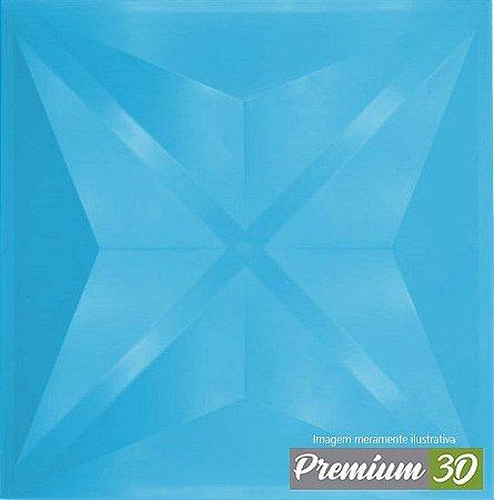 KIT C/22 PLACAS REVESTIMENTO 3D DIAMANTE AZUL BEBÊ  30X30cm