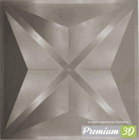 KIT C/22 PLACAS REVESTIMENTO 3D DIAMANTE FENDI   30X30cm