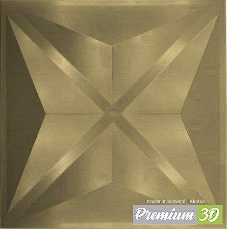 KIT C/22 PLACAS REVESTIMENTO 3D DIAMANTE DOURADO  30X30cm
