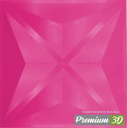 KIT C/22 PLACAS REVESTIMENTO 3D DIAMANTE ROSA  30X30cm