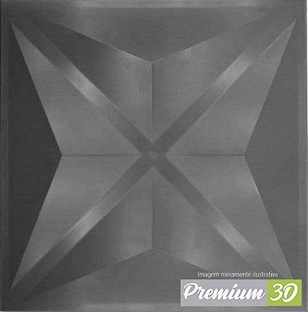 KIT C/22 PLACAS REVESTIMENTO 3D DIAMANTE CINZA  30X30cm