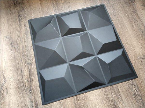 Placas de Revestimentos 3D PVC - Dark Vertice  Autoadesiva fita 3M  - Preto Fosco