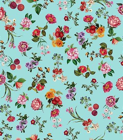 Papel de Parede Infantil Floral  Coleção Brincar 3650