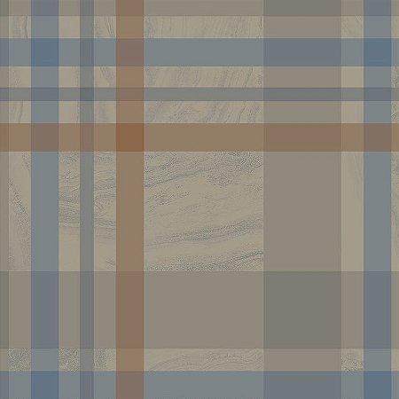 Papel De Parede Unico 10x0.52m Geometrico Marrom - Finottato 0401301724