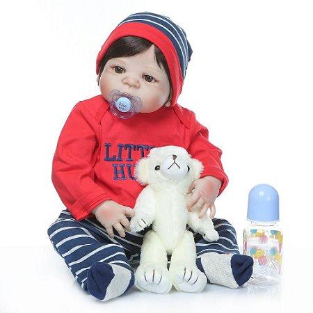 Bebê Reborn menino 100%Silicone, 57cm