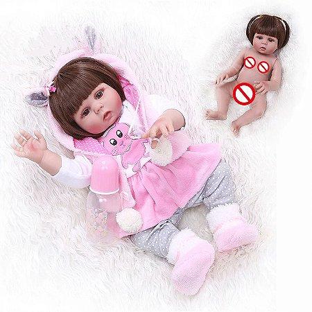[Pronta Entrega] Bebê reborn  coelhinho, 100% silicone  48cm