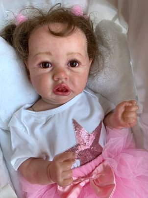 Bebê reborn realista, cabelo enraizado, 100% silicone  56cm