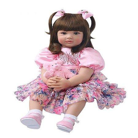 Pronta Entrega - Bebê reborn grande princessa 60cm
