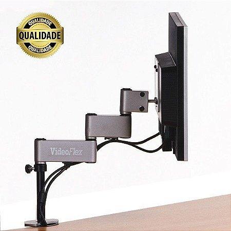 Suporte para Monitor VídeoFlex Mecânico LCD Grampo Morsa