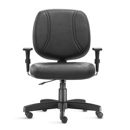 Cadeira maxxer em couro ecológico com braço regulável