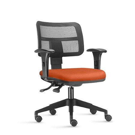Cadeira secretária frisokar zip encosto em tela