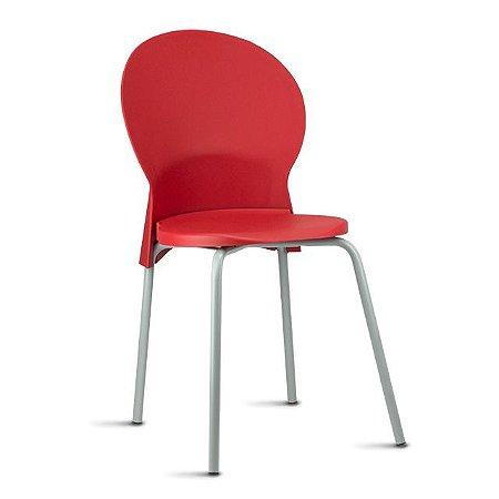 Cadeira Luna em Polipropileno com base cinza
