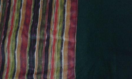 Malha verde musgo 100% algodão com estampa étnica