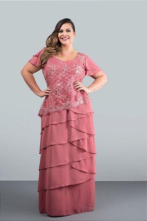 Vestido Longo Rosê (Venda Loja)