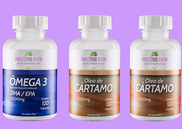 Kit 2 Óleo de Cartamo 120 capsulas 1 Omega 3 120 capsulas.
