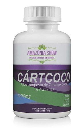 Oleo de Cartamo com Coco 120 capsulas de 1000mg