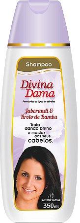 Divina Dama Shampoo 350ml -  Jaborandi + Broto de Bambú