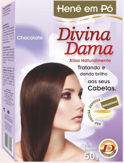 Divina Dama Henê Pó 50g Chocolate