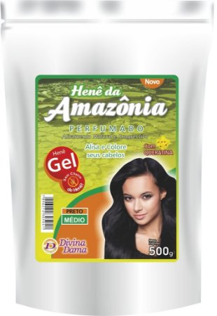Amazônia Henê Gel 500g Pouche Preto Médio